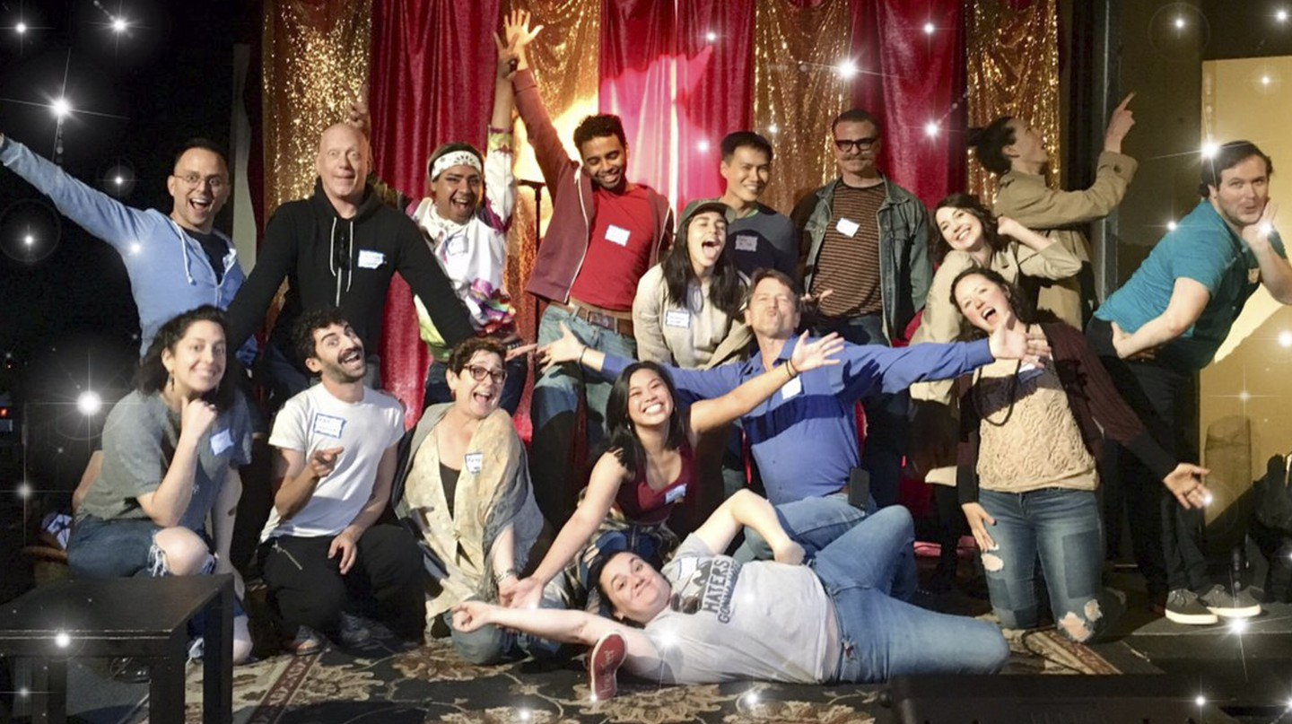 The cast from 'The Gang's All Queer,' one of the Pride-themed plays featured during the 2018 season of Pint Sized