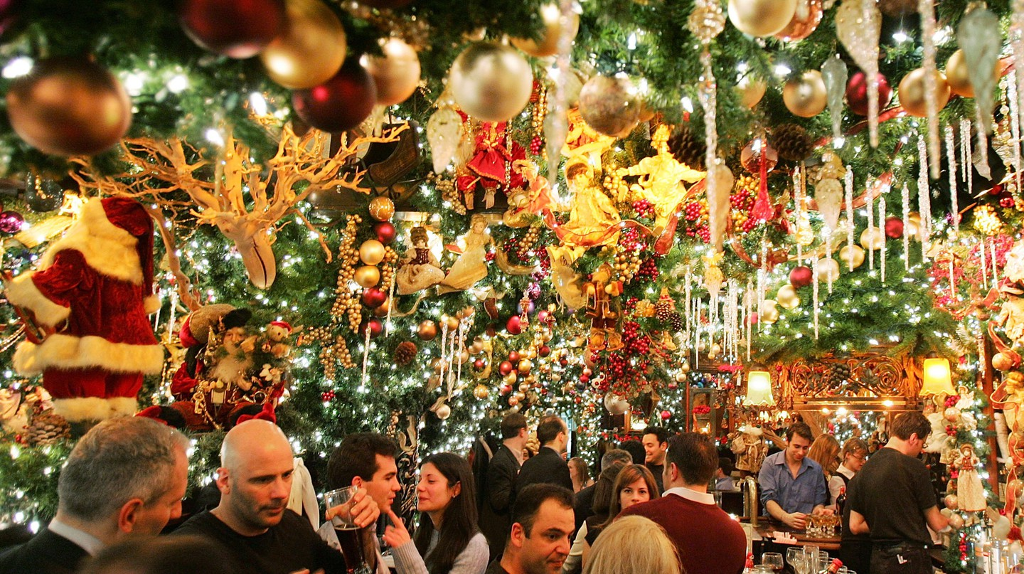 Rolf's in Manhattan does not hold back when it comes to Christmas decorations
