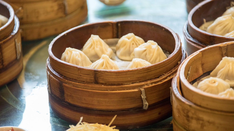 Xiaolongbao, soup dumplings in Shanghai.