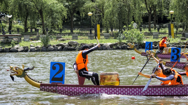 Shanghai's Dragon Boat Festival is held in June