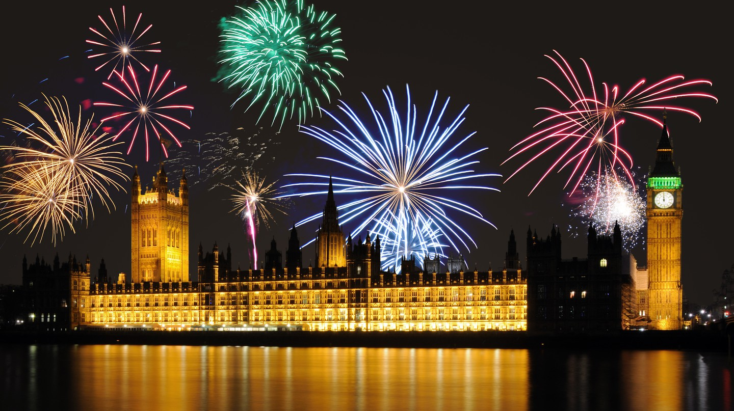 Beautiful fireworks take place in London to celebrate Bonfire Night