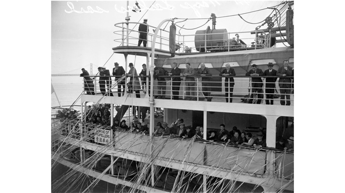 In 1940, Angel Island became 'home' for 512 German crew members from the luxury liner, Columbus