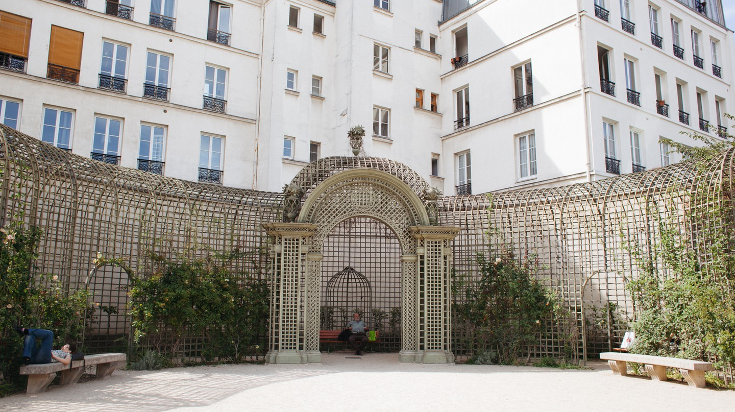 The Jardin Anne Frank offers the perfect escape from Le Marais's crowded streets
