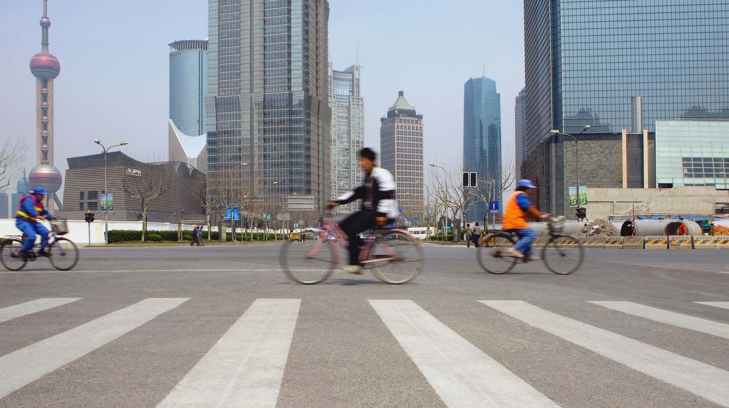 Shanghai is a bike-friendly city