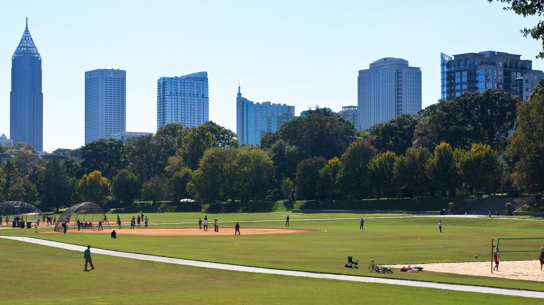 View of Piedmont Park in Atlanta, Georgia.