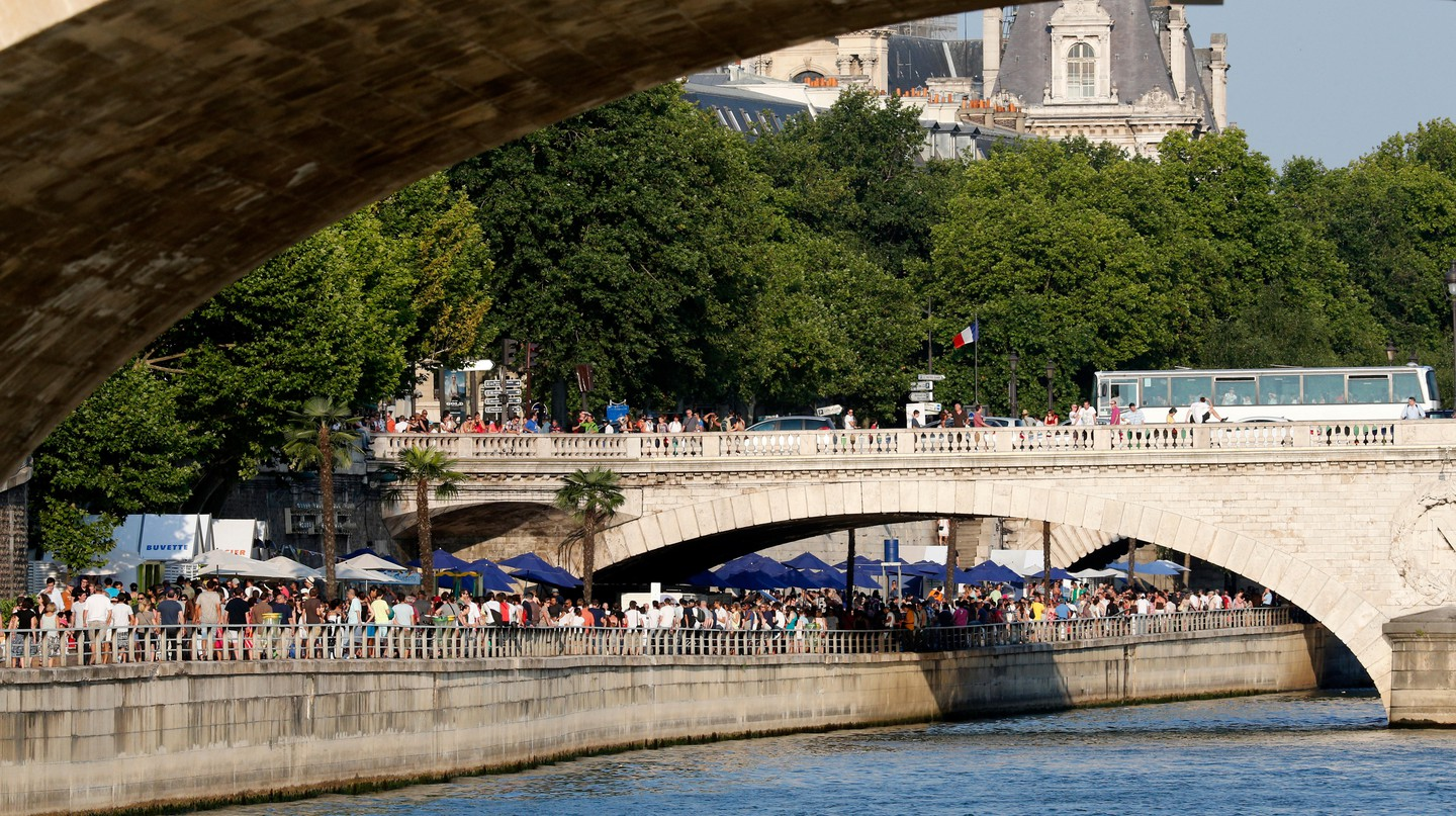 A stroll along the banks of the River Seine is a great thing to do on a warm day