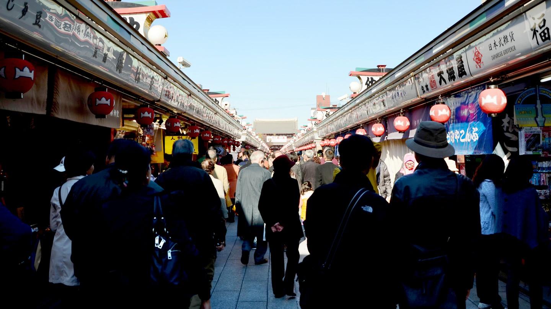 Nakamise shopping street in Asakusa, Tokyo