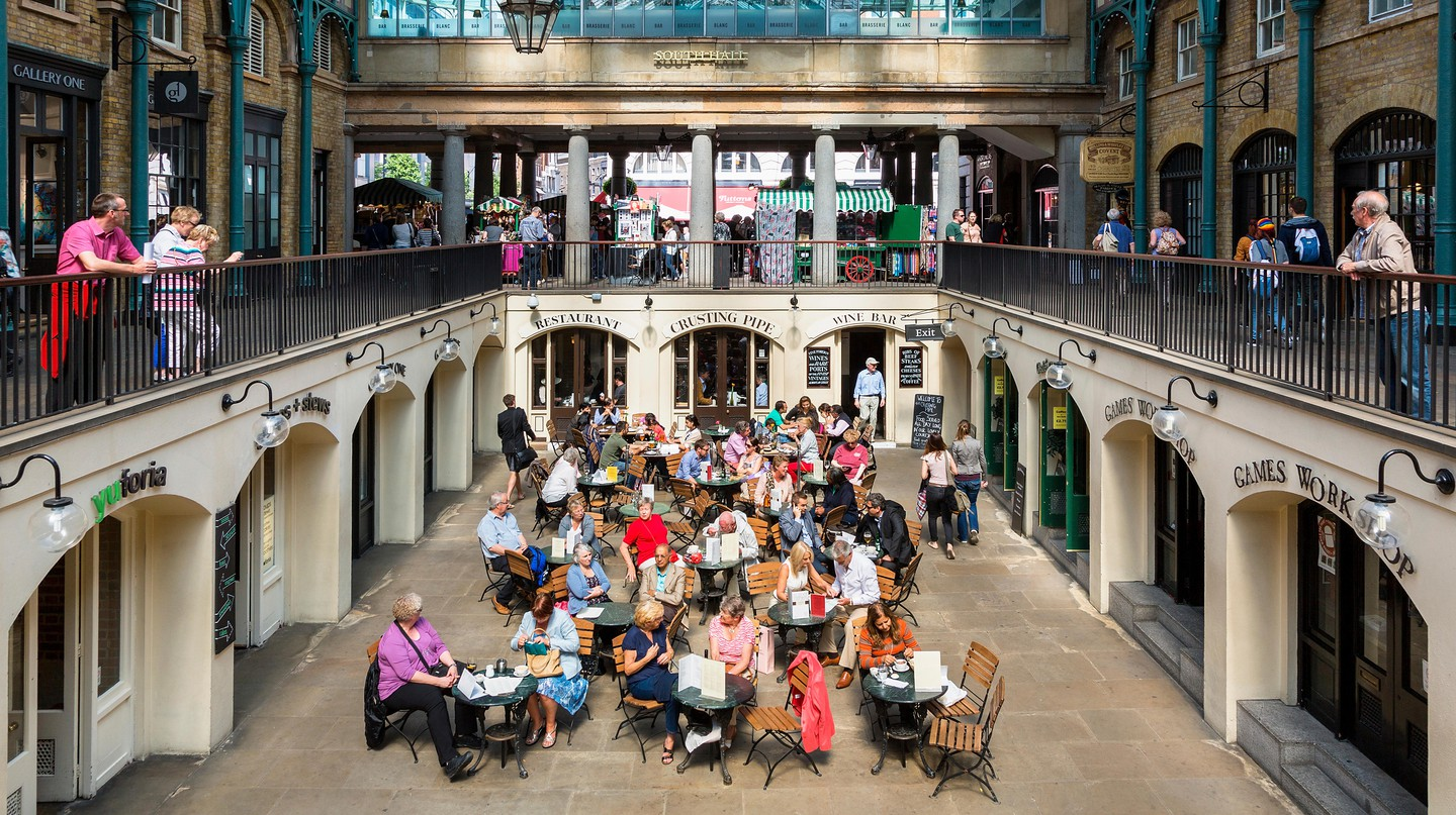 London's Covent Garden is full of restaurants and shops