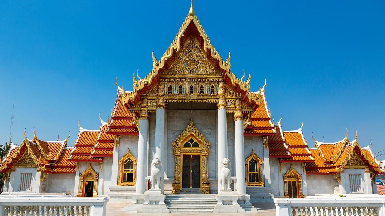 Wat Benchamabophit Temple, Thailand, Bangkok.