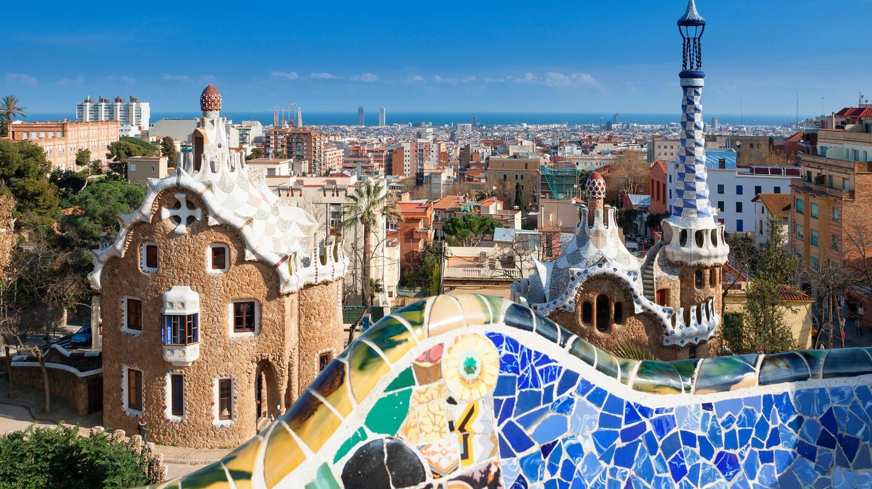 Park Güell looks over Barcelona