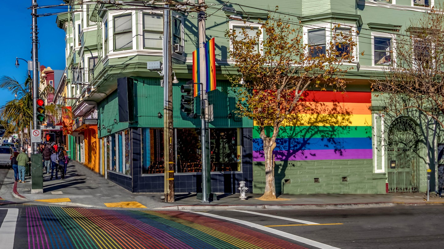 The Castro is home to a large LGBTQ community