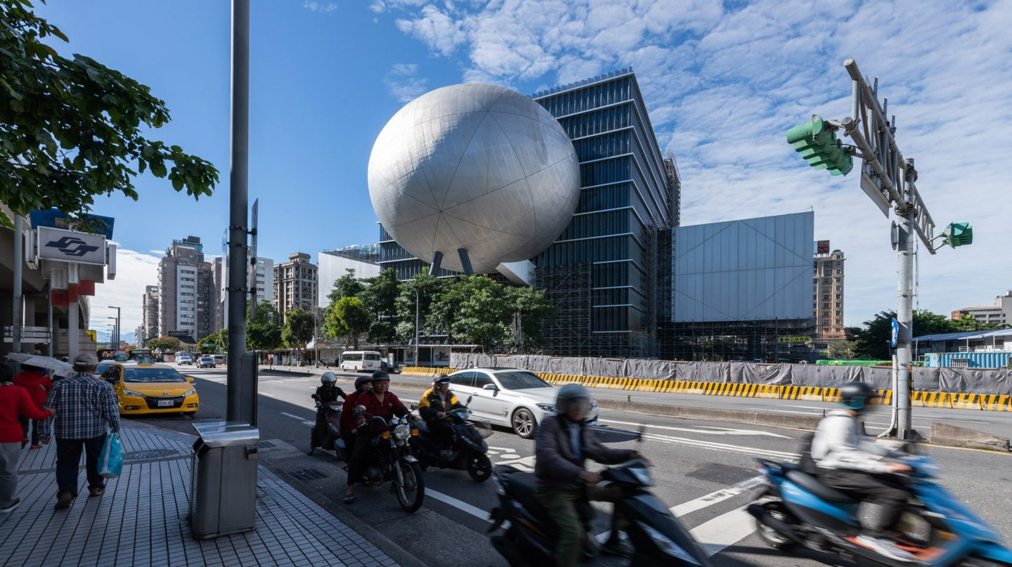 The Dutch architectural firm OMA designed the Taipei Performing Arts Centre
