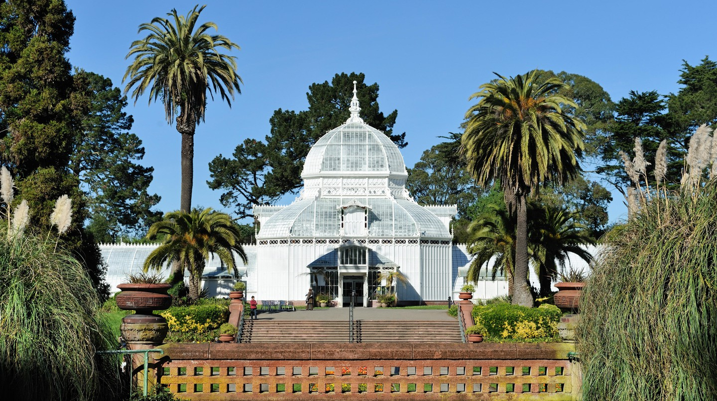 The Conservatory of Flowers in Golden Gate Park is a tropical wonderland