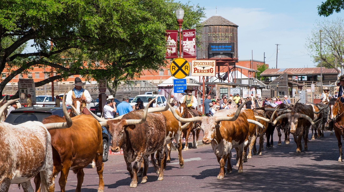 The Fort Worth Stockyards is one of many unique attractions in Texas