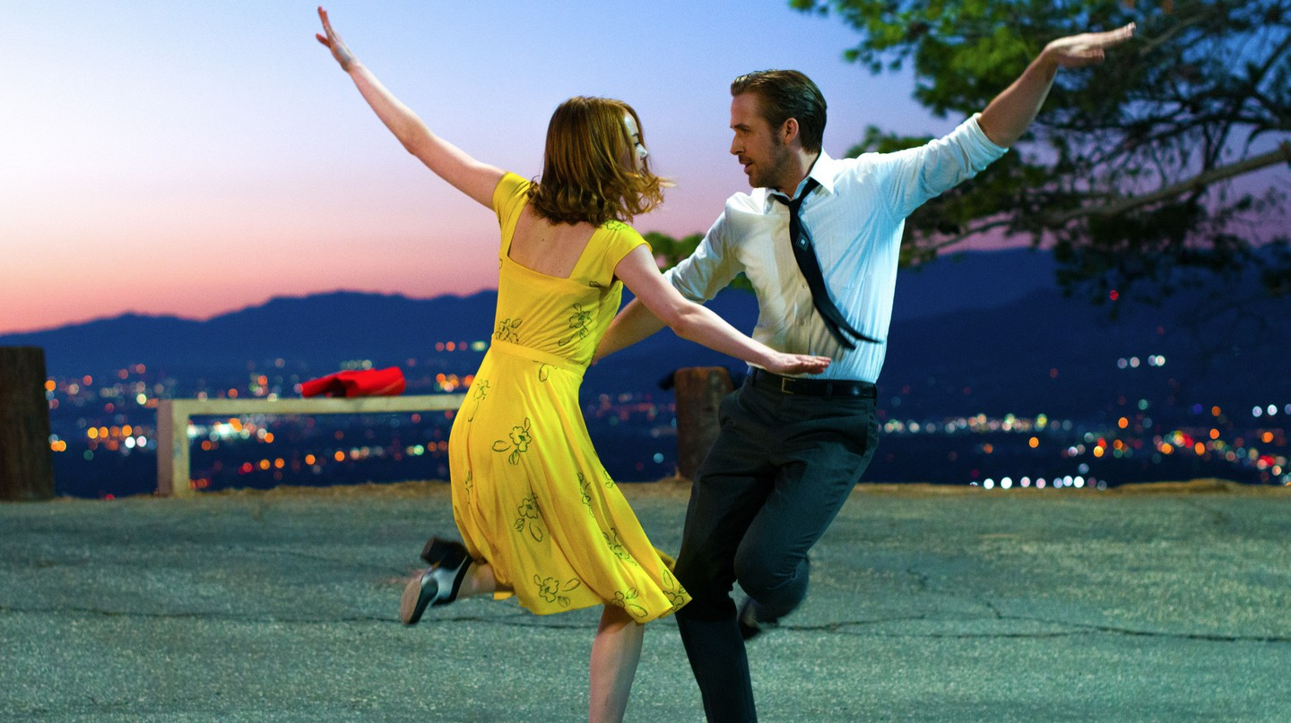 Emma Stone and Ryan Gosling in 'La La Land' – 2016