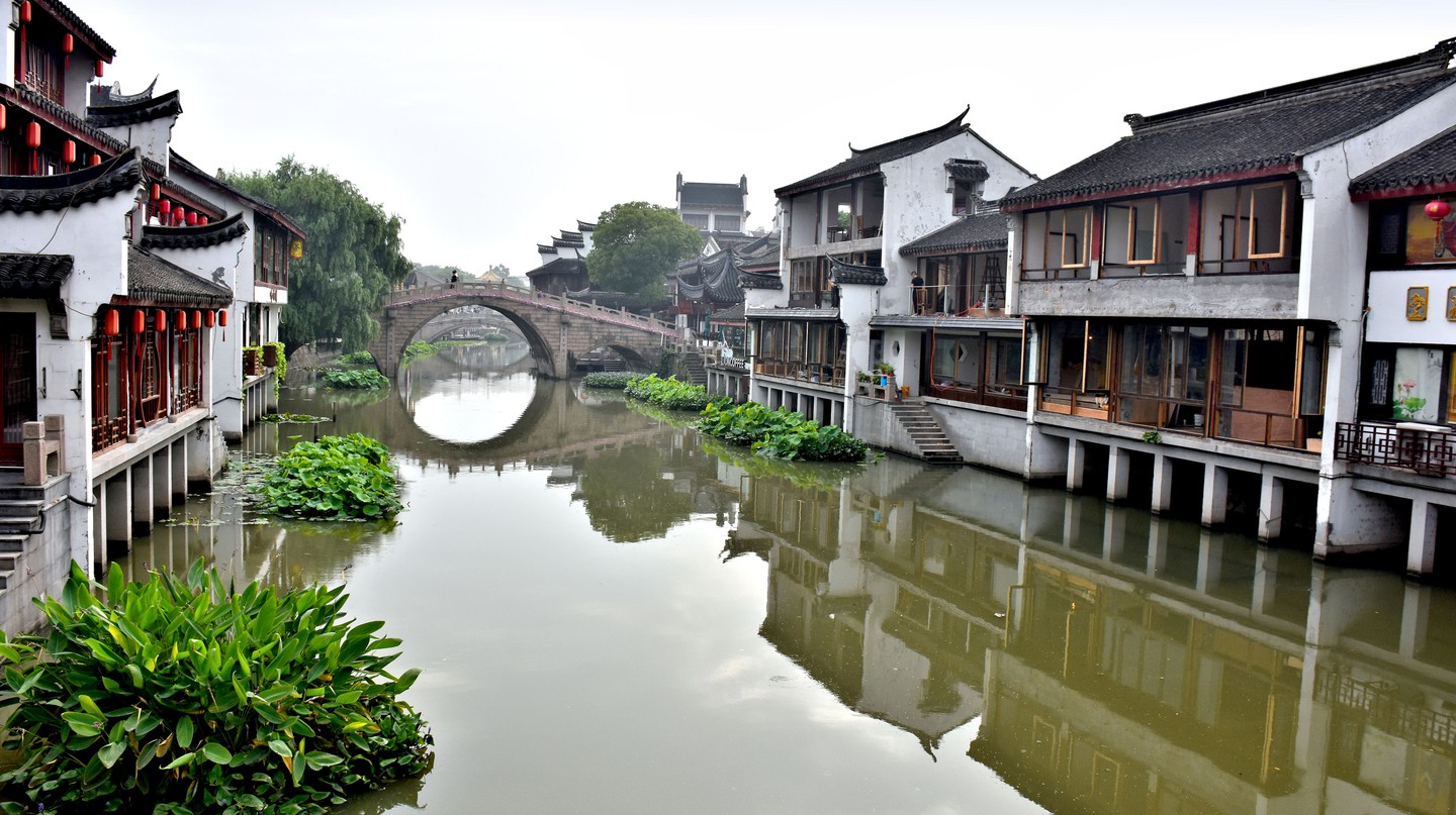 Qibao is known for its delicious street foodand beautiful canal views