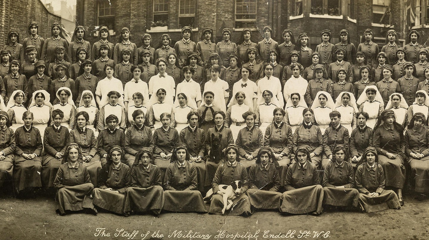 Staff of the Endell Street Military Hospital, August 1916