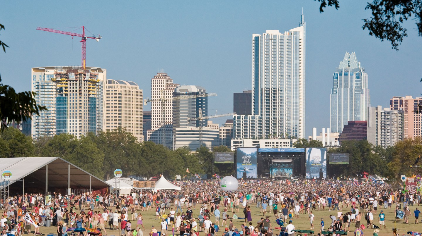 Revelers revel at the Austin City Limits Music Festival in 2008