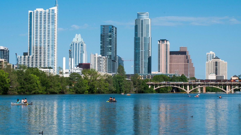 Austin skyline from Zilker Park