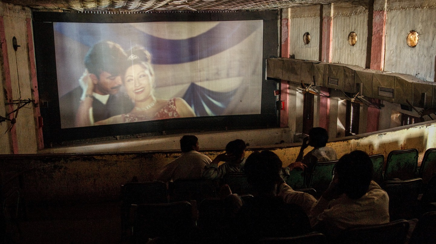 A cinema in Lahore, Pakistan, attracts a daytime crowd