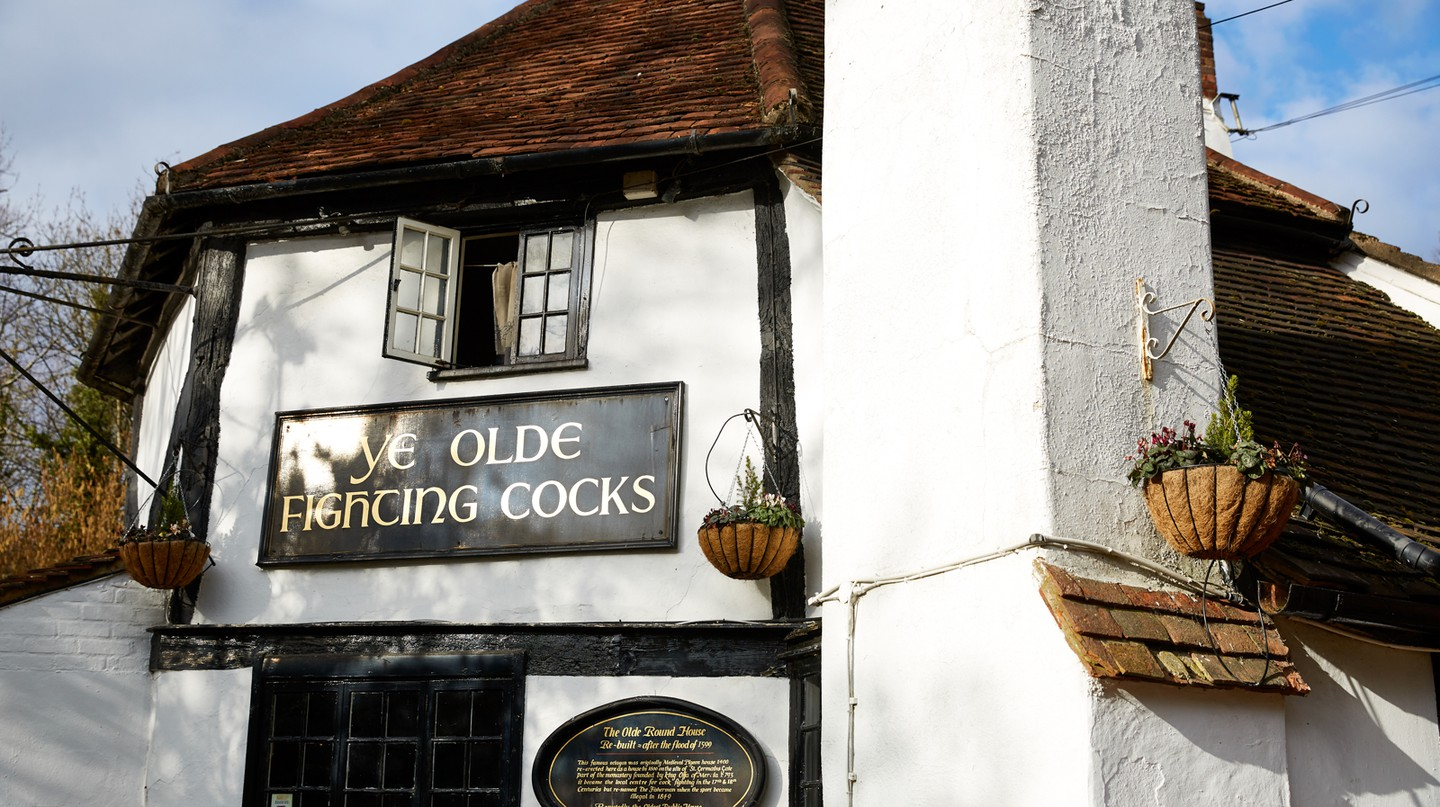 Ye Olde Fighting Cocks, St Albans, England