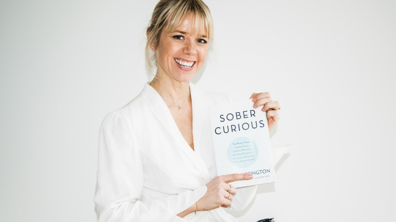 Ruby Warrington displays her book 'Sober Curious'
