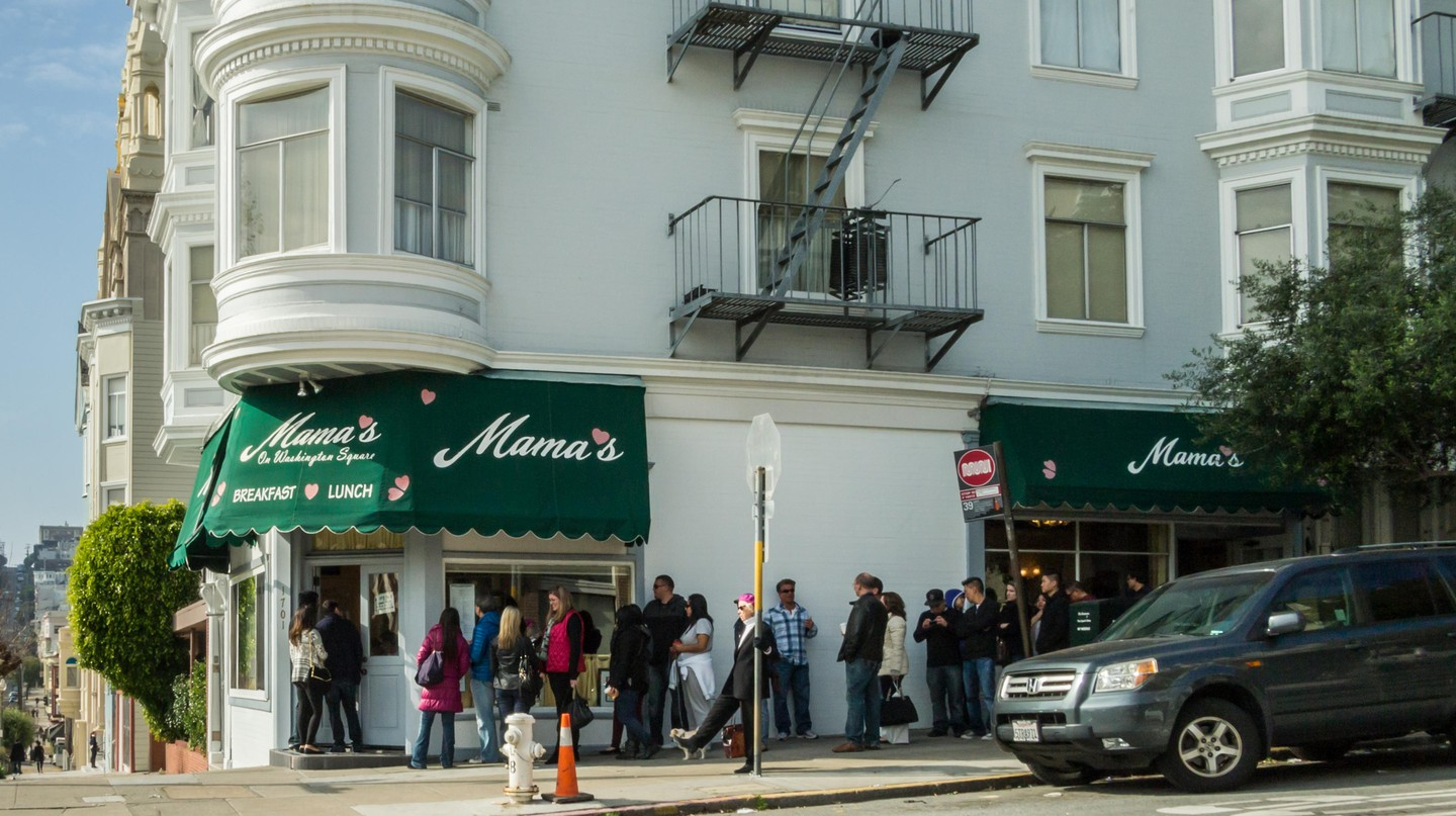 Mama's on Washington Square has been serving North Beach's residents for over 50 years