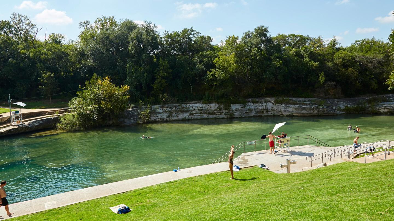 Barton Springs, Austin, Texas.