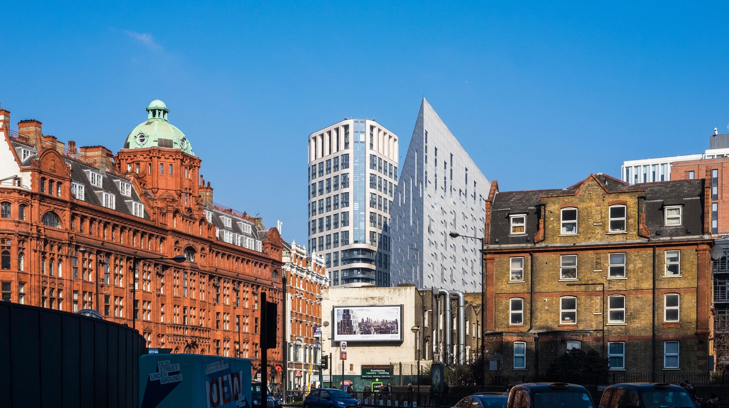 Old Street roundabout and City Road, London