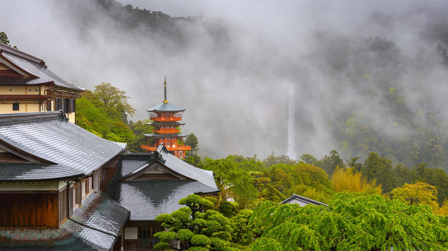 Seigantoji Pagoda and Nachi Falls, Japan