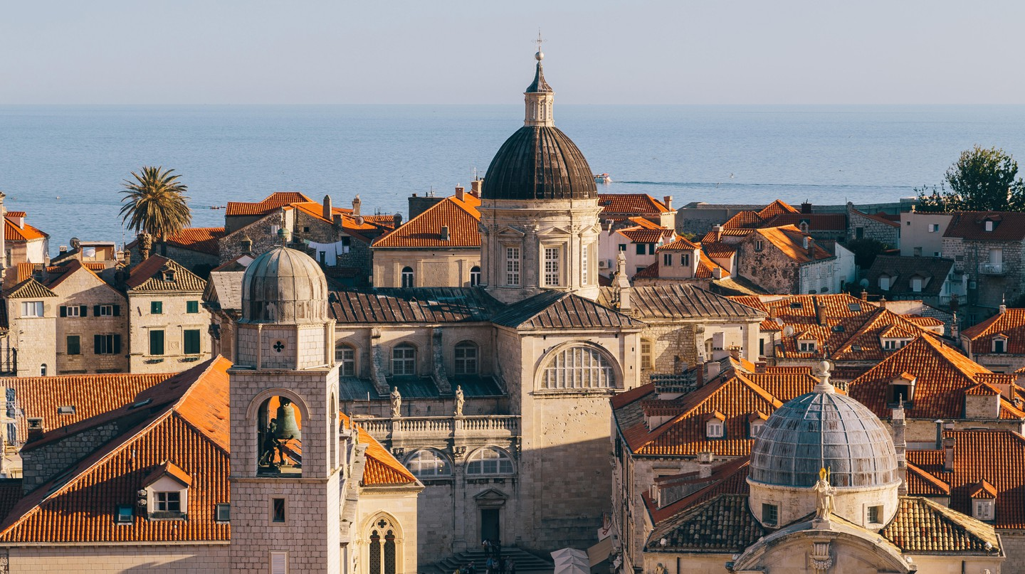 Historic Dubrovnik, Croatia, offers views of the Adriatic Sea
