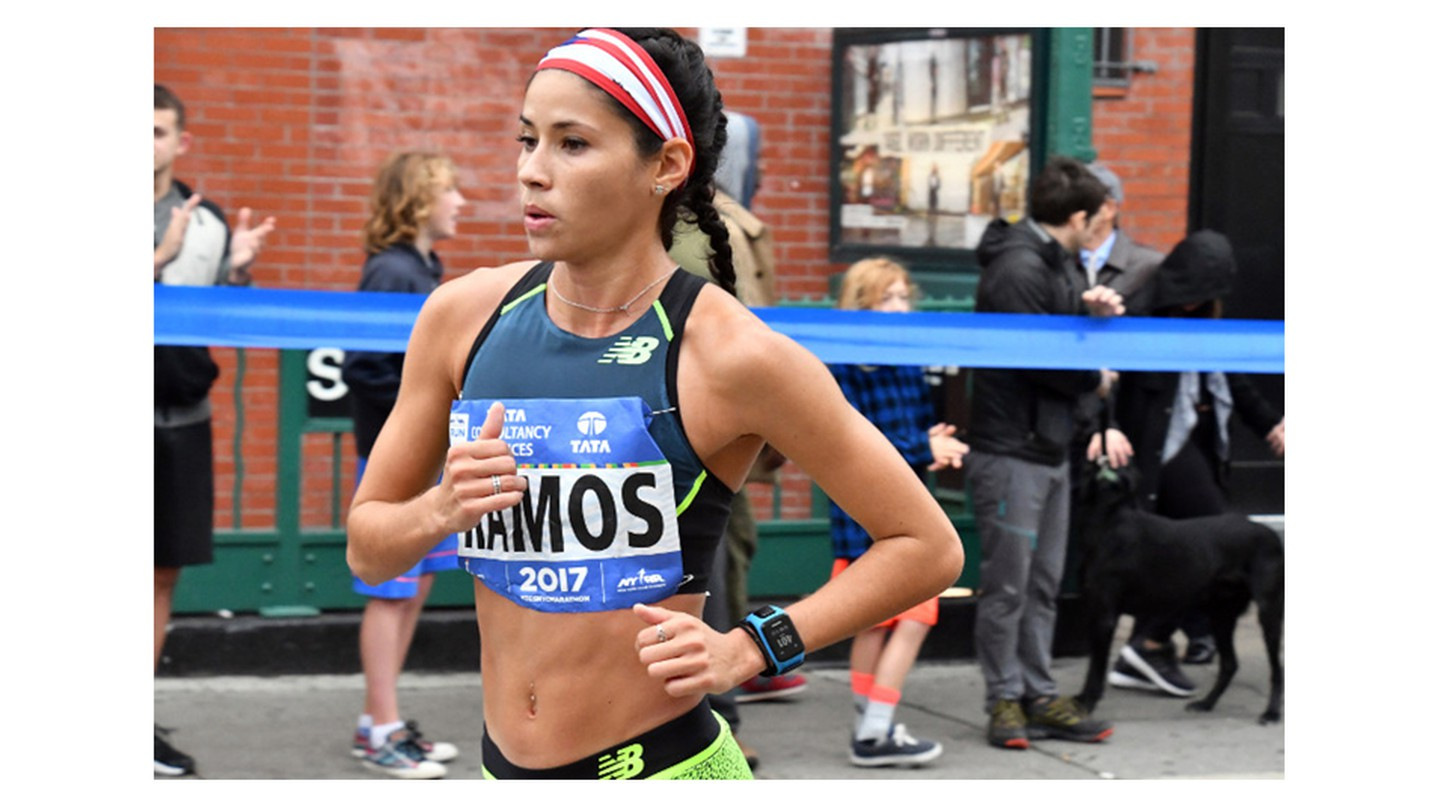 Beverly Ramos competes in the 2017 NYC Marathon