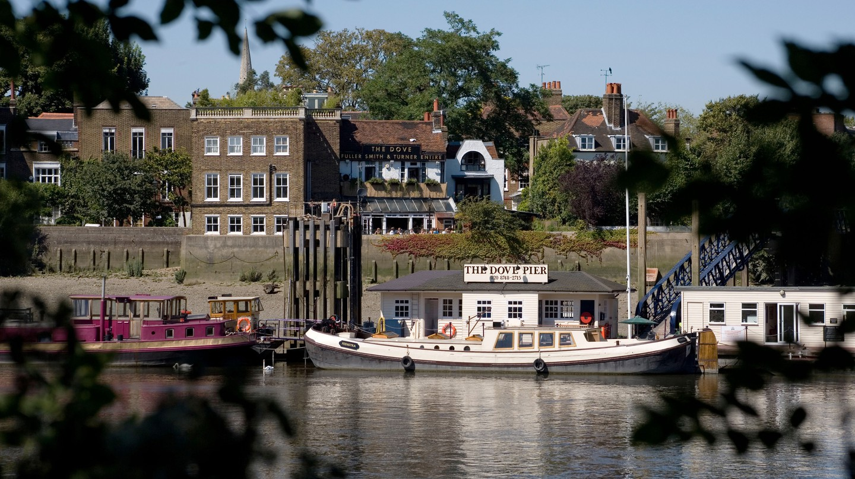 The Dove Public House alongside River Thames Hammersmith, London