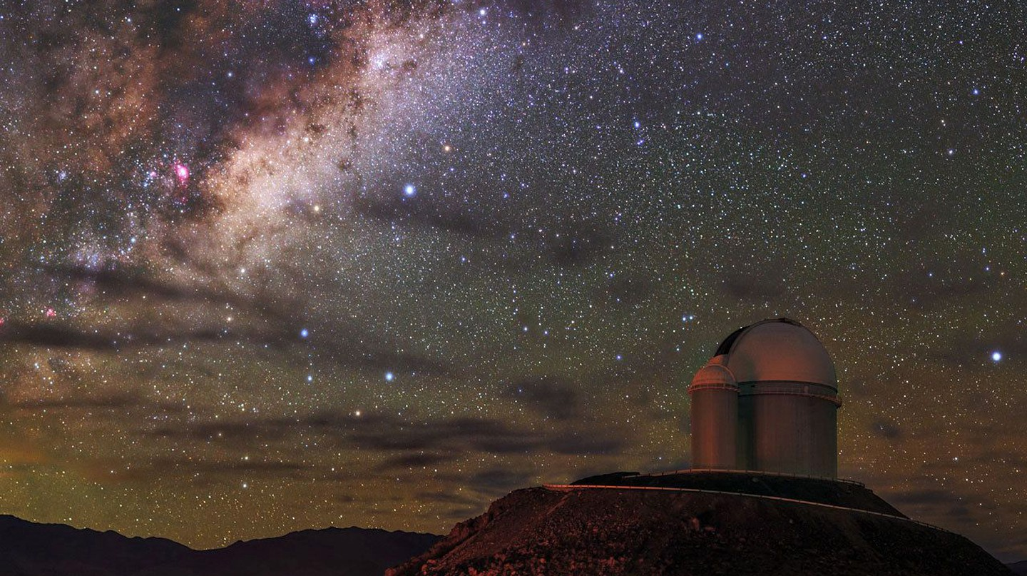 There is virtually no light pollution in the Atacama Desert