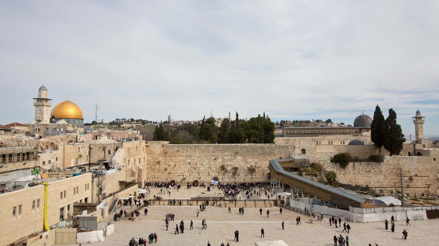 People visit the Western Wall, Jerusalem, Israel