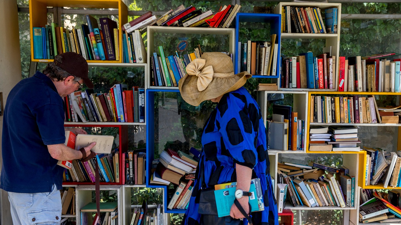 A community street library in Jerusalem
