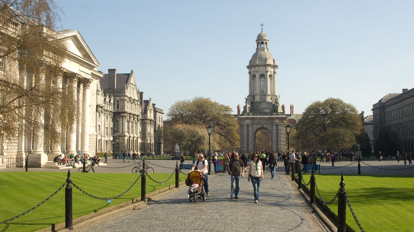 Trinity College Dublin is Ireland's oldest surviving university