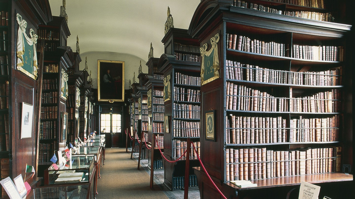 Unique things to do in Dublin include exploring the reportedly haunted Marsh's Library, Ireland's oldest public library