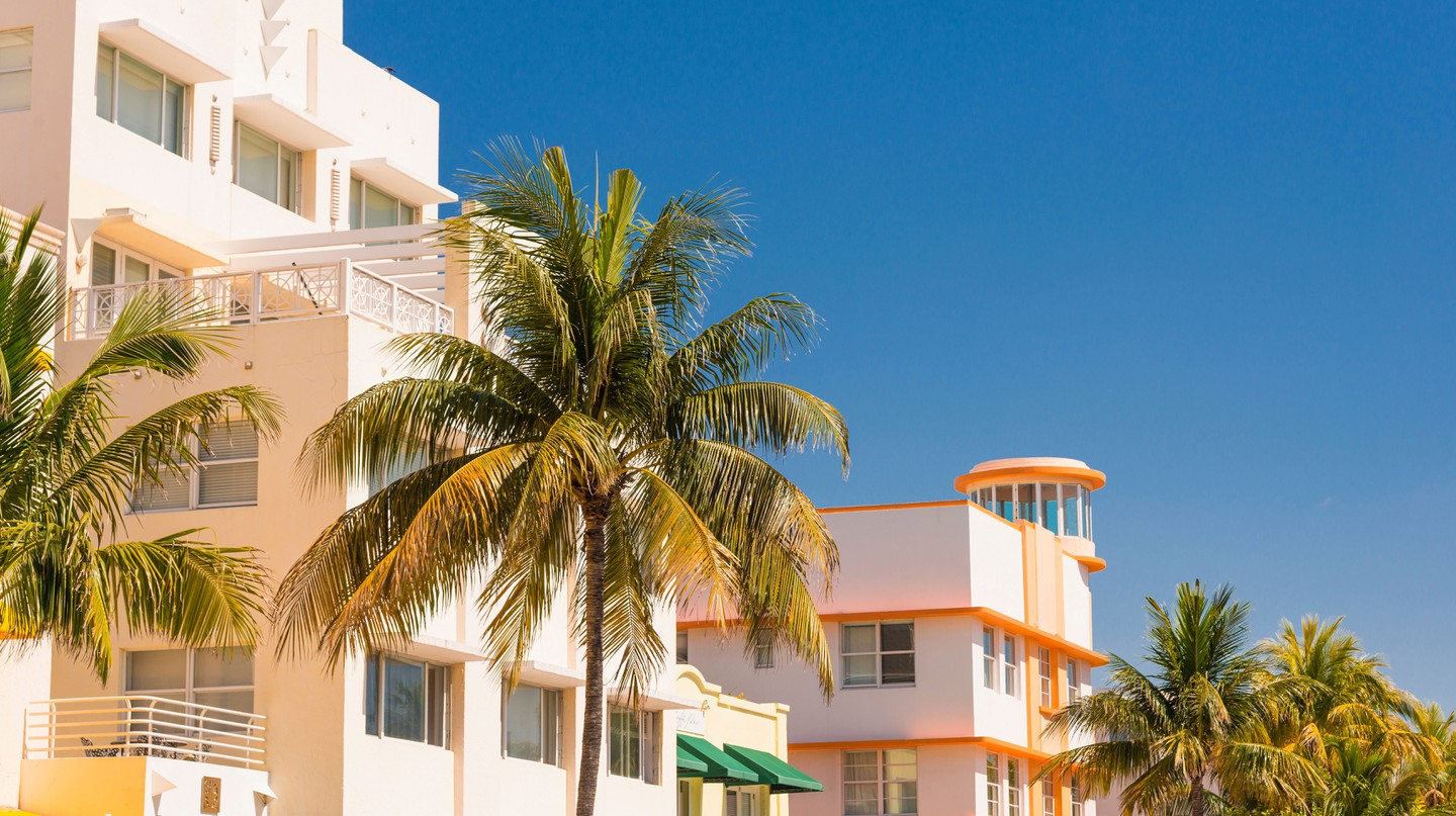 Looks like decent weather in the Art Deco District of Miami Beach