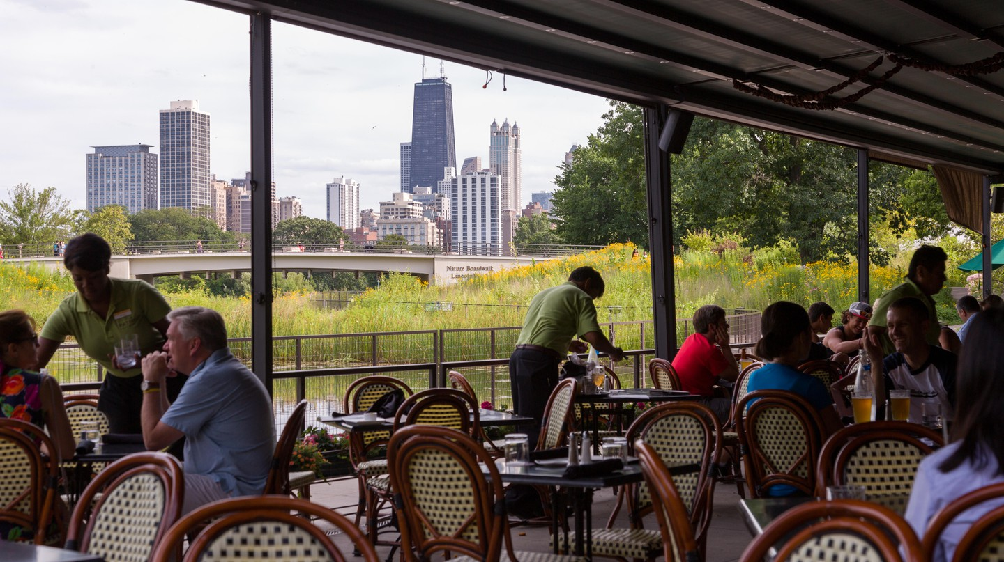 Take in the lovely view with your meal at North Pond