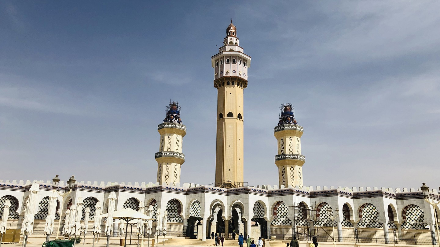 The marble courtyard of Touba's Great Mosque holds up to 60,000 worshippers during Friday prayers