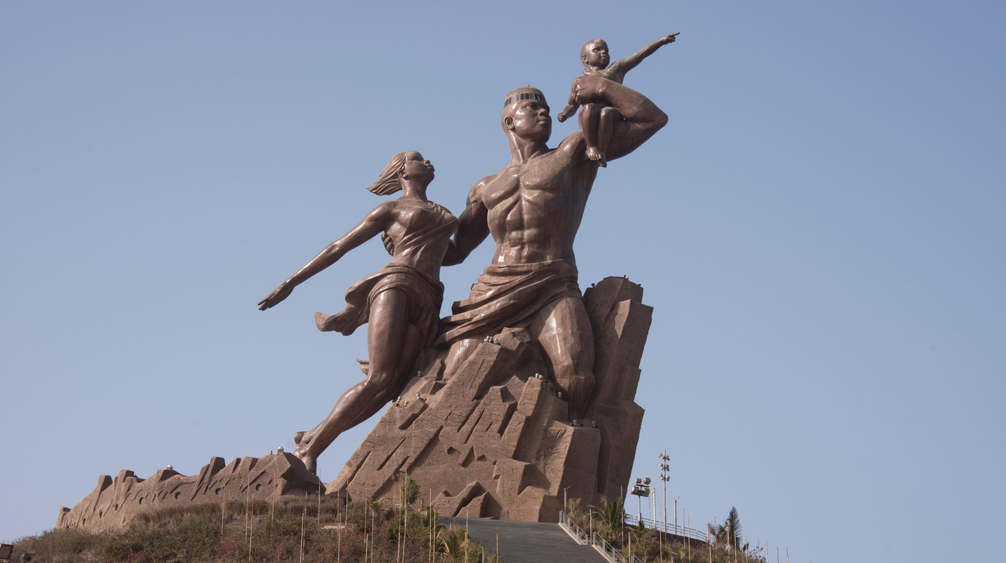 The Monument de la Renaissance is the tallest monument in Africa, looming over the city of Dakar