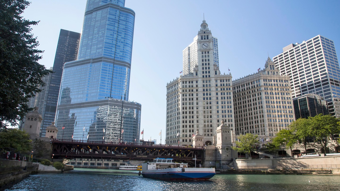 Chicago downtown and the Michigan Avenue Bridge, The Loop, Chicago