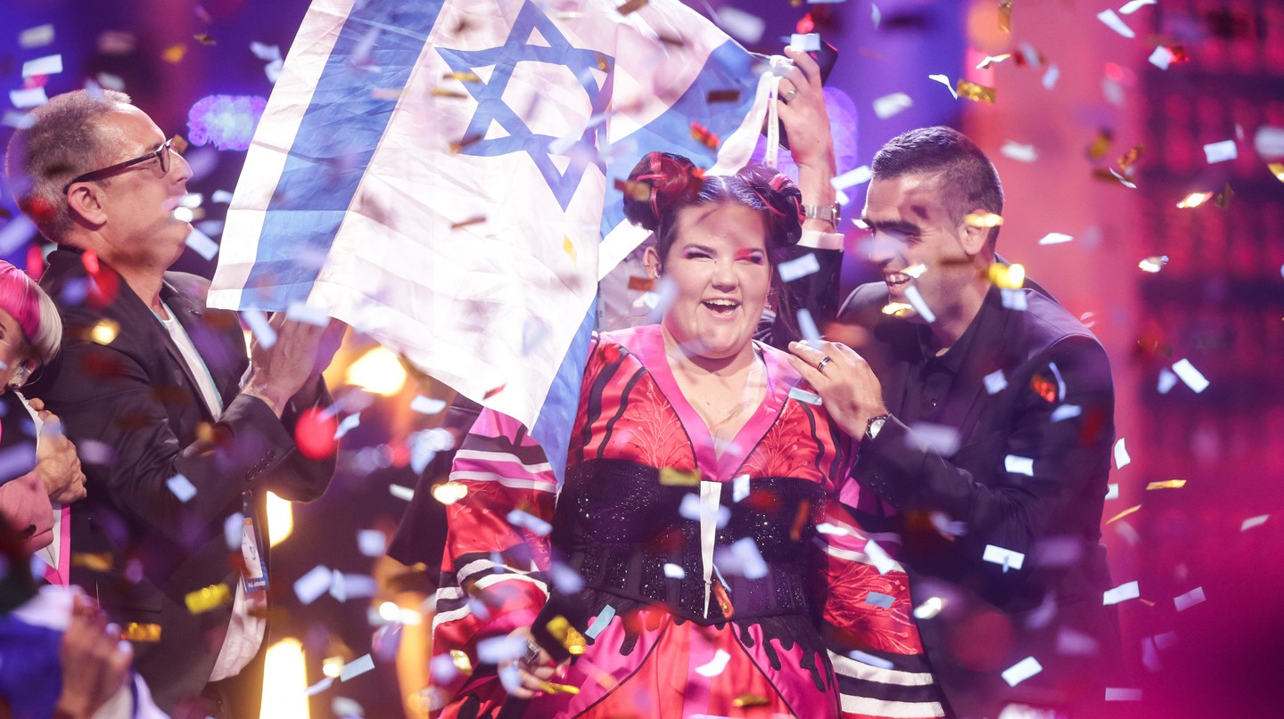 Singer Netta from Israel wins the 63rd Eurovision Song Contest with her song 'Toy'