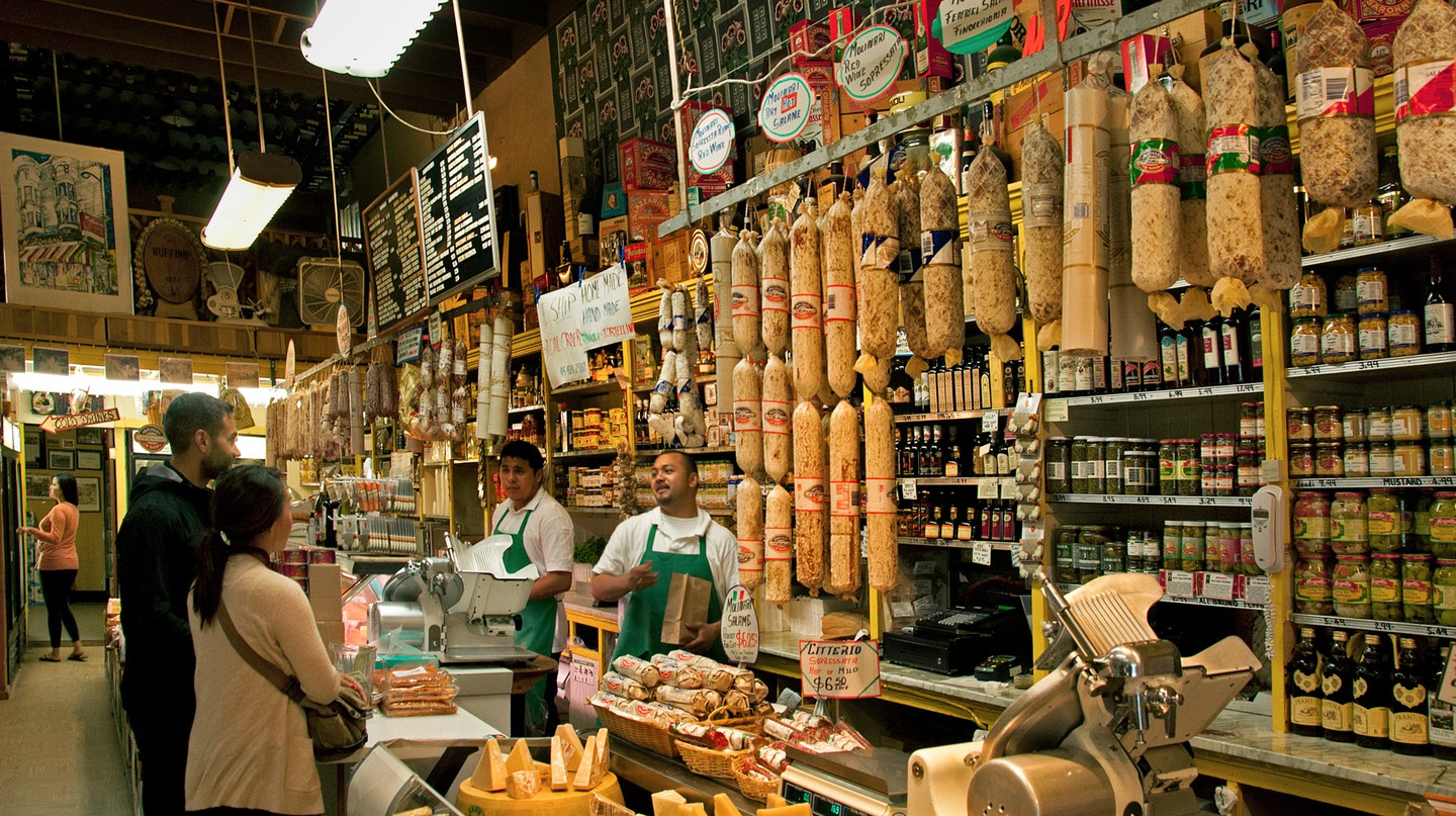 C99KT2 Molinari Deli Delicatessen Little Italy San Francisco California United States of America American USA Town City