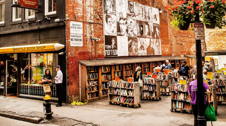 Brattle Book Shop opened its doors in 1825
