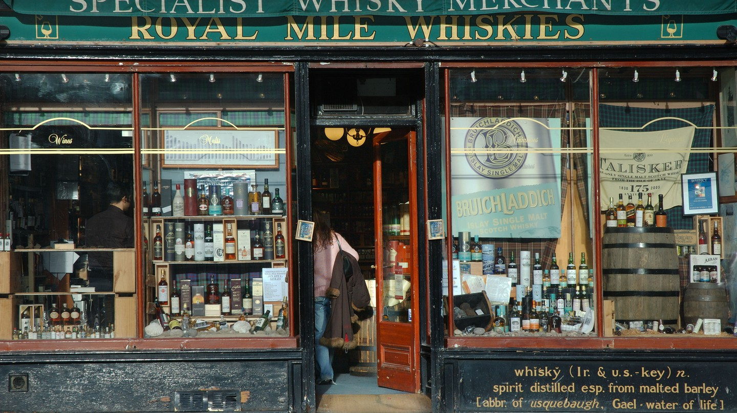 When in Edinburgh, by sure to stock up at the Royal Mile Whisky Shop