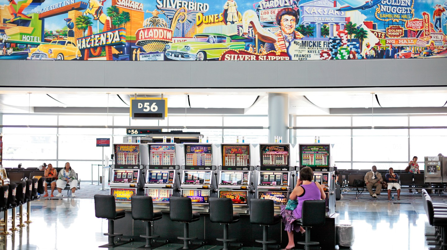 Airport delays have never been more fun when there are slot machines to play