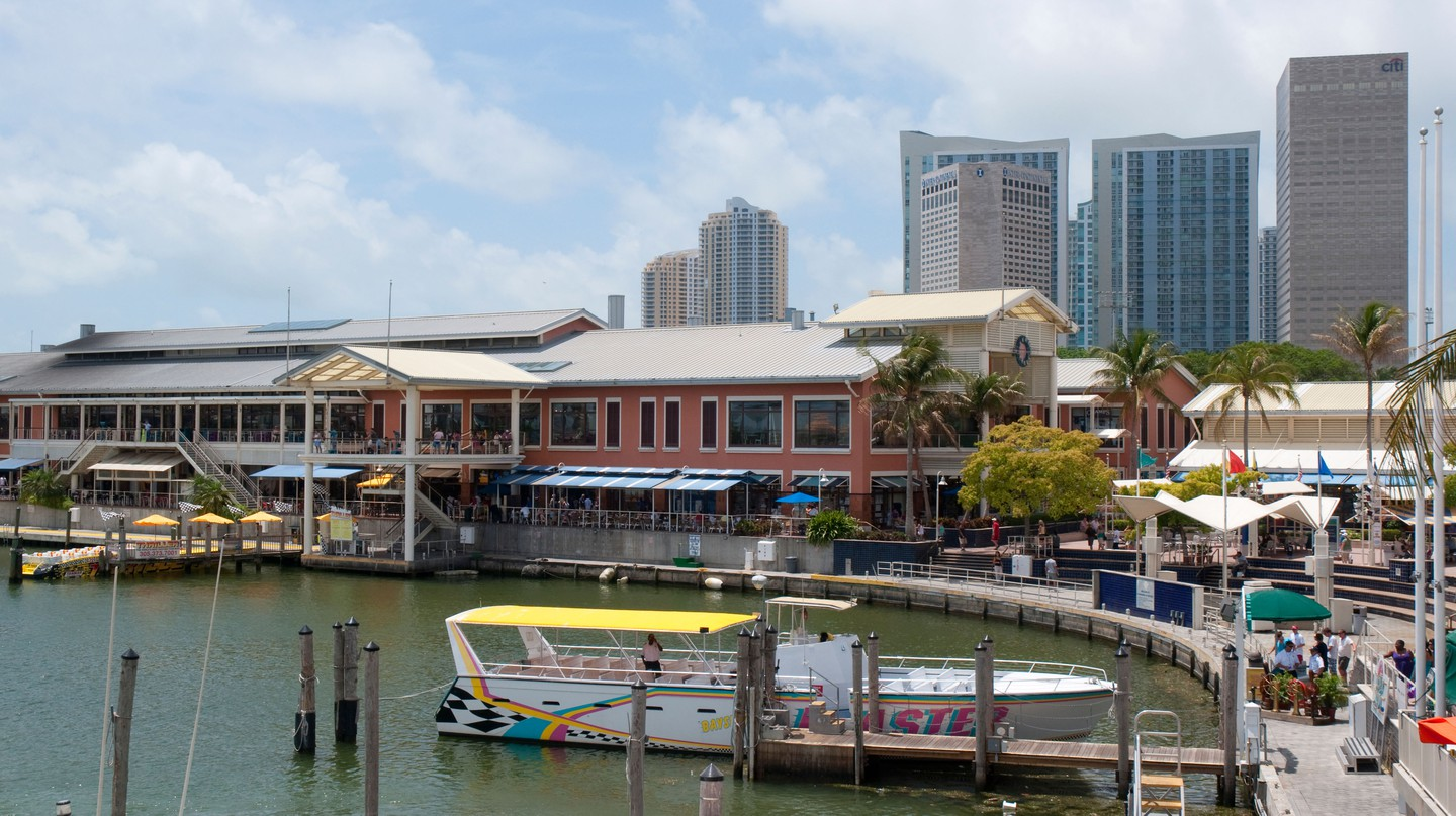 Head to Bayside Marketplace, overlooking Biscayne Bay