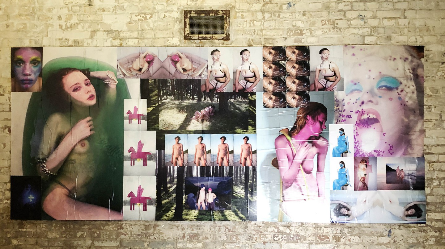 Collage of works at Pornceptual Berlin